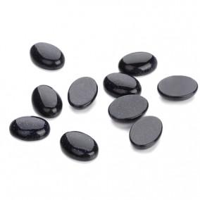 Margele pietre semipretioase piatra soarelui albastra cabochon oval 14x10mm