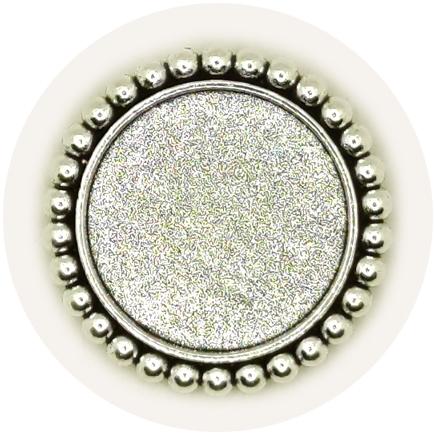Cadru brosa argintie 34mm cabochon rotund 25mm