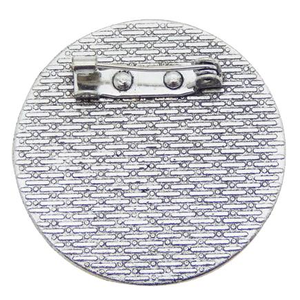 Cadru brosa argintie 36mm cabochon rotund 30mm