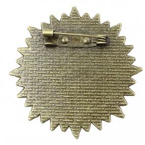 Cadru brosa bronz 38mm cabochon rotund 25mm