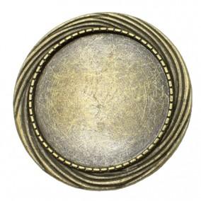 Cadru brosa bronz 40mm cabochon rotund 30m