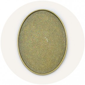 Cadru brosa bronz 42x32mm cabochon oval 40x30mm