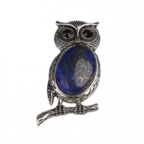 Pandantiv bufnita cabochon lapis lazuli 53x27mm