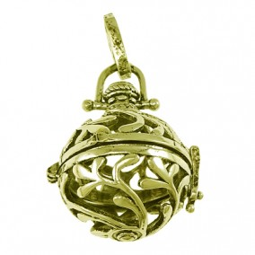 Pandantiv bola sfera bronz ramuri 45x22mm