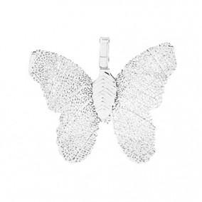 Pandantive electroplacate fluture aripi argintii 27x30mm