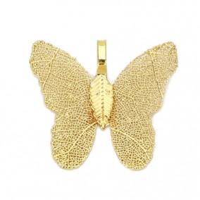 Pandantive electroplacate fluture aripi aurii 27x30mm