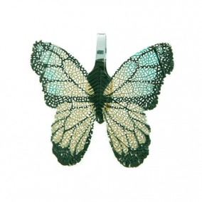 Pandantive electroplacate fluture aripi auriu turcoaz 27x30mm