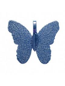 Pandantive electroplacate fluture aripi bleu 27x30mm