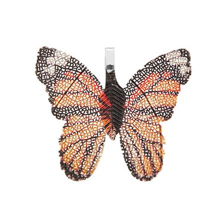 Pandantive electroplacate fluture aripi oranj negru 27x30mm