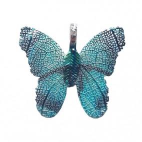 Pandantive electroplacate fluture aripi turcoaz 27x30mm