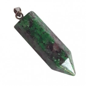 Pandantiv pendul hexagon ruby zoisite 43x10mm