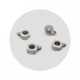 Accesorii metalice argintii agatatoare charm 8x3mm