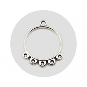 Accesorii metalice argintii candelabru 25x20mm