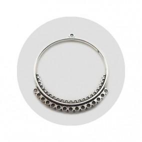 Accesorii metalice argintii candelabru 40x35mm