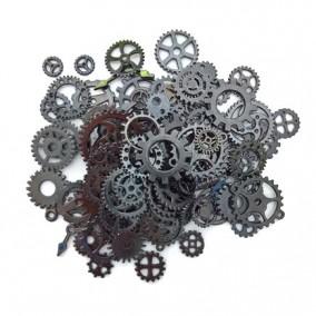 Accesorii gun metal rotite ceas amestec 100g