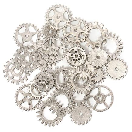 Accesorii argintiu antichizat mecanisme rotite ceas amestec 100g