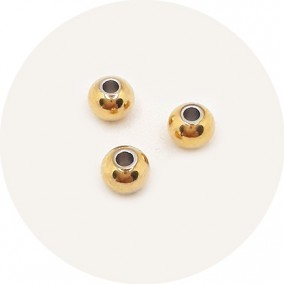 Margele distantiere din inox auriu sfere 4mm