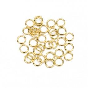 Zale din inox auriu diametru 5mm 20 de anouri