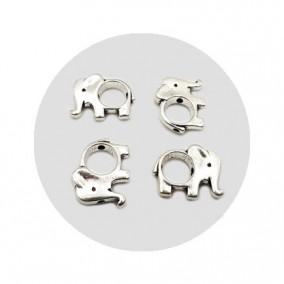 Accesorii metalice argintii margele cadru elefant 17x14mm