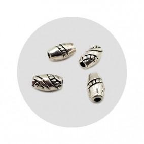 Accesorii metalice argintii margele distantiere 8x5mm