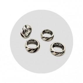 Accesorii metalice argintii margele distantiere cerc 8x4mm
