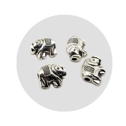 Accesorii metalice argintii margele elefant 12x10mm