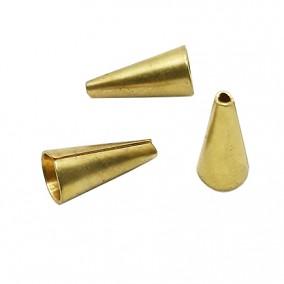 Accesorii aurii capacele con 13x6mm