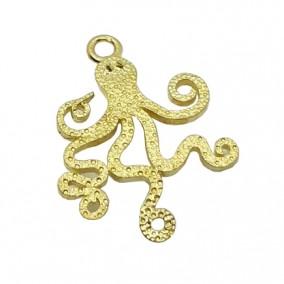 Accesorii aurii charm caracatita 23x17mm