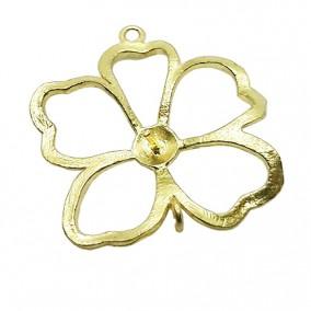Accesorii aurii link floare 25mm