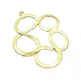 Accesorii aurii pandantiv cerc impletit 30mm