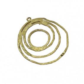 Accesorii aurii pandantiv cercuri 22mm