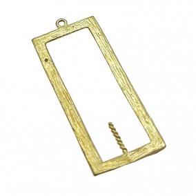 Accesorii aurii pandantiv dreptunghi 33x14mm