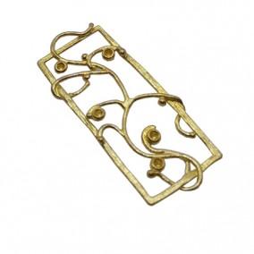 Accesorii aurii pandantiv dreptunghi 37x15mm