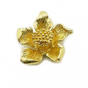 Accesorii aurii pandantiv floare 17mm