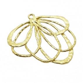 Accesorii aurii pandantiv petale 25mm