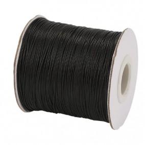 Ata cerata fir nylon lucios grosime 0.5mm negru rola 150m