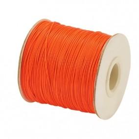 Ata cerata fir nylon lucios grosime 0.5mm portocaliu rola 150m