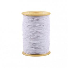 Elastic textil alb grosime 0,8mm rola 100m