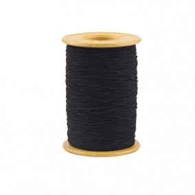 Elastic textil negru grosime 0,8mm rola 100m