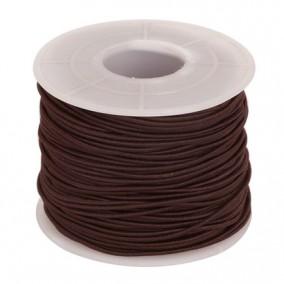 Elastic textil rotund 1,2mm maro 100m