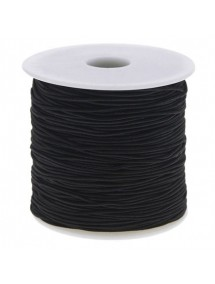 Elastic textil rotund 1.2mm negru 100m