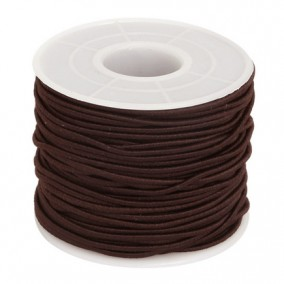 Elastic textil rotund 1.5mm maro 45m