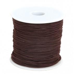 Elastic textil rotund 1mm maro 100m