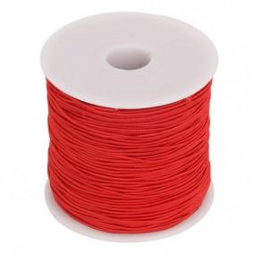 Elastic textil rotund 1mm rosu 100m
