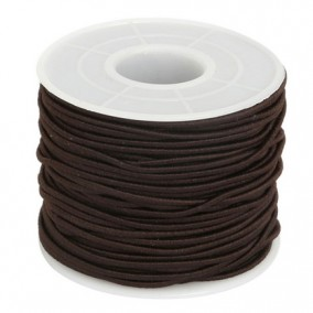 Elastic textil rotund 2mm maro 40m