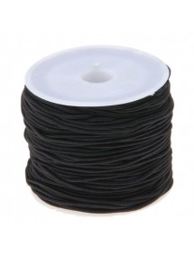 Elastic textil rotund 2mm negru 40m