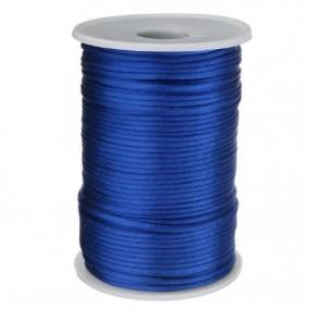 Snur satin albastru regal rotund 3mm rola 80m