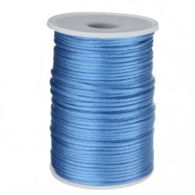 Snur satin bleu cenusiu rotund 3mm rola 80m