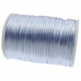 Snur satin bleu deschis rotund 3mm (10m)