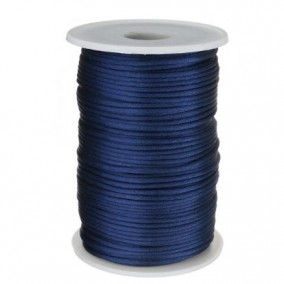 Snur satin bleumarin rotund 3mm (10m)